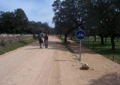 Carril bici Cardeña - Aldea de El Cerezo